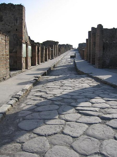 Pompeii sidewalk that is not made with Trump's promises